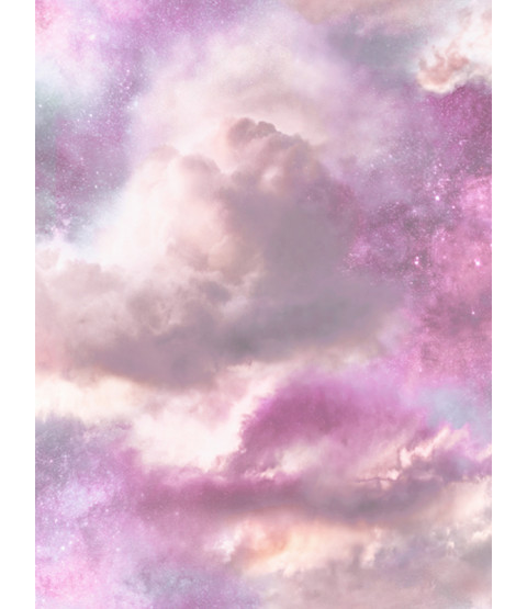 Diamond Galaxy Cloud Sky Glitter Wallpaper - Purple and Pink - Arthouse 260009