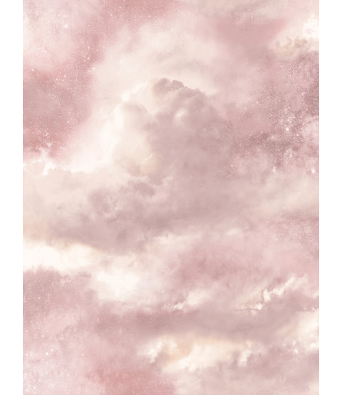Diamond Galaxy Cloud Glitter Wallpaper - Blush Pink - Arthouse 260006