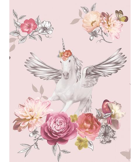 Fantasia Anastasia Unicorn Wallpaper Pink Arthouse 692302
