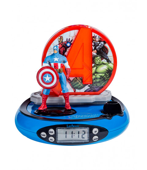 Marvel Avengers Radio Alarm Clock Projector hulk ironman