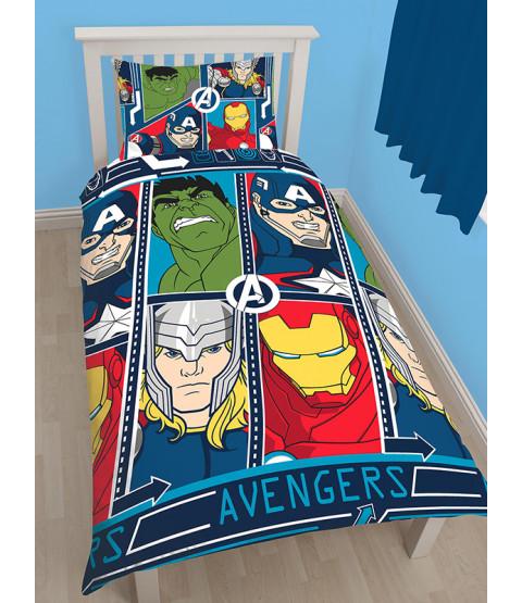 Marvel Avengers Tech Single Duvet Rotary Cover Set
