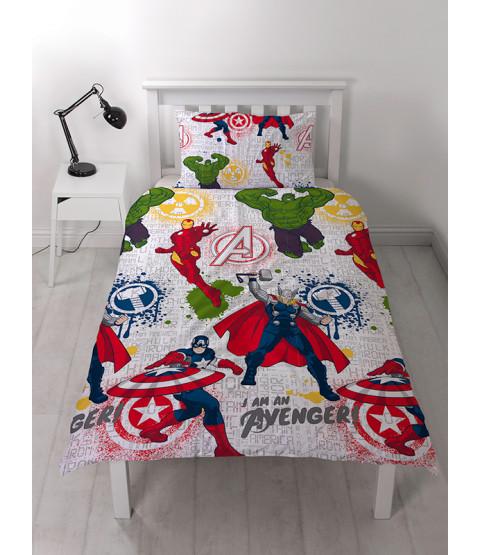 Marvel Avengers Mission Single Duvet Cover Set thor hulk