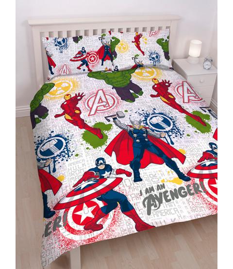 Marvel Avengers Set copripiumino Mission Double capitano america ragazzi bambini biancheria da letto per bambini