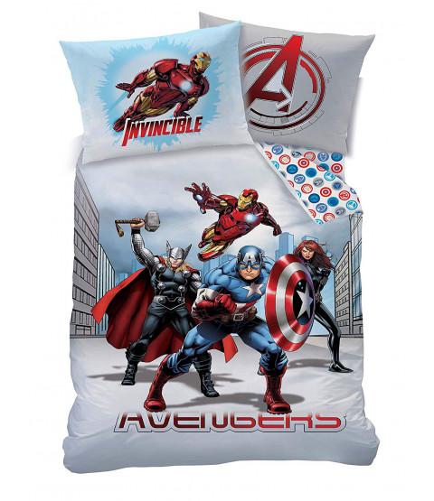 Marvel Avengers City Single Duvet Cover and Pillowcase Set