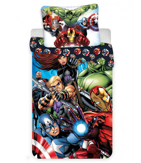 Marvel Avengers Single Cotton Duvet Cover and Pillowcase Set