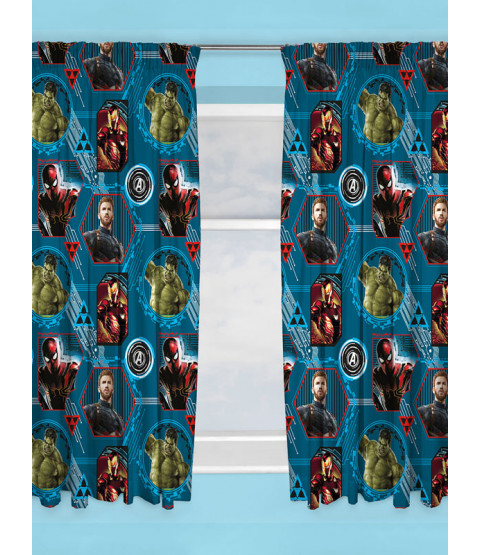 "Marvel Avengers Force Curtains 72"" Drop"