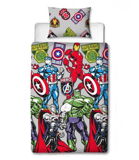 Marvel Avengers Stickers Single Duvet Cover Set
