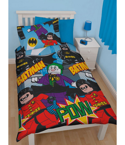 DC Superheroes Lego Batman Dynamic Single Duvet Cover Set