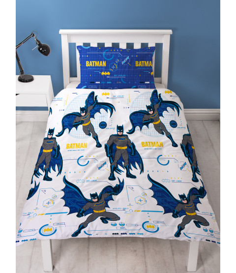 Batman Tech Single Duvet Cover and Pillowcase Set