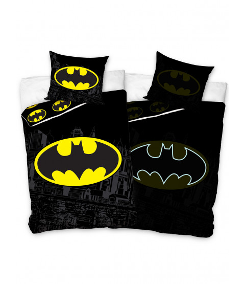 Batman Glow in the Dark 100% Cotton Single Duvet and Pillowcase Set