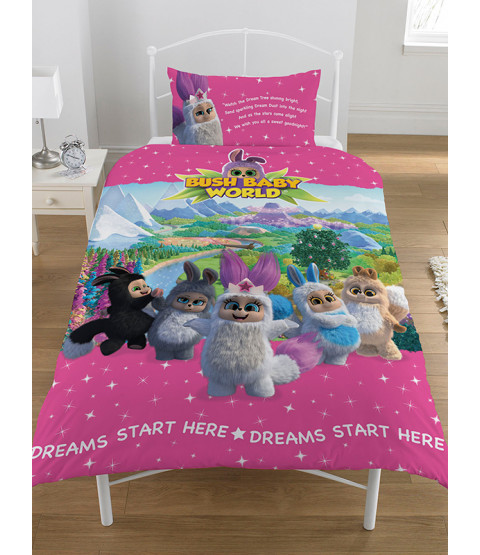 Bush Baby World Sparkle Single Duvet Cover Bedding Set