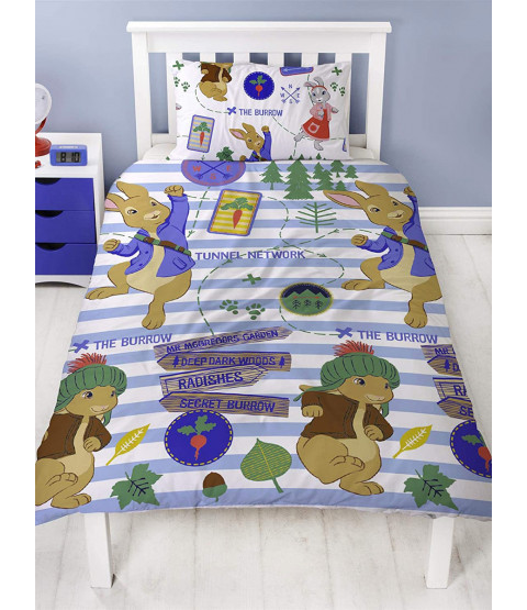 Peter Rabbit Single Duvet Cover and Pillowcase Set