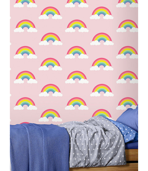 Rainbow Wallpaper Pink Feature Wall Belgravia 9991