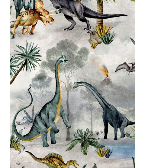 Dino Kingdom Wallpaper Multi Belgravia 7700