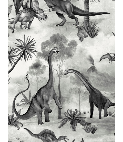 Dino Kingdom Wallpaper Mono Belgravia 7701