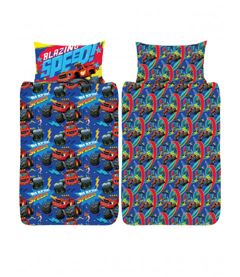 Blaze Blazing Junior Toddler Duvet Cover and Pillowcase Set
