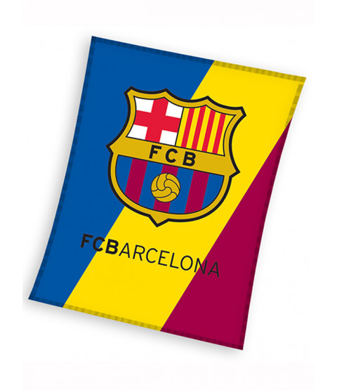 FC Barcelona Crest Fleece Blanket