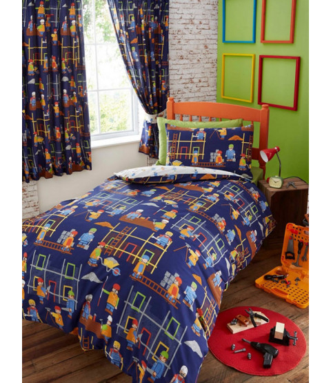 Building Site Junior Duvet Cover and Pillowcase Set