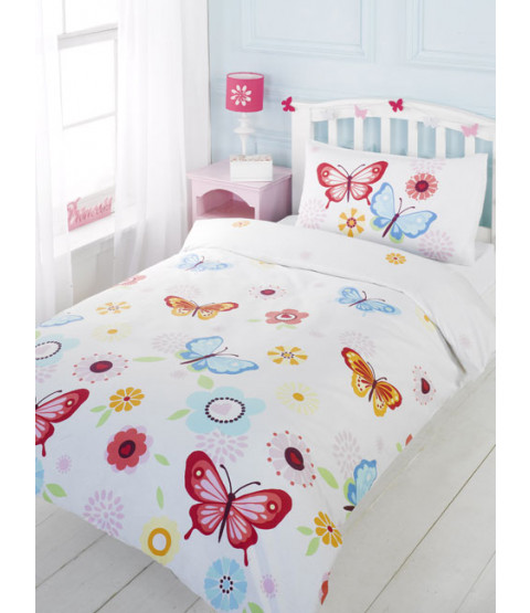 Butterfly Junior Duvet Cover & Pillowcase Set