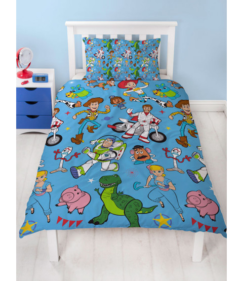 Toy Story 4 Rescue Single Duvet Cover Set - Rotary Design
