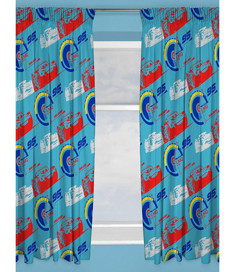 "Disney Cars 3 Lightning Curtains 54"" Drop"