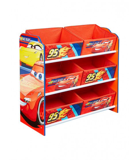 Disney Cars 6 Bin Storage Unit