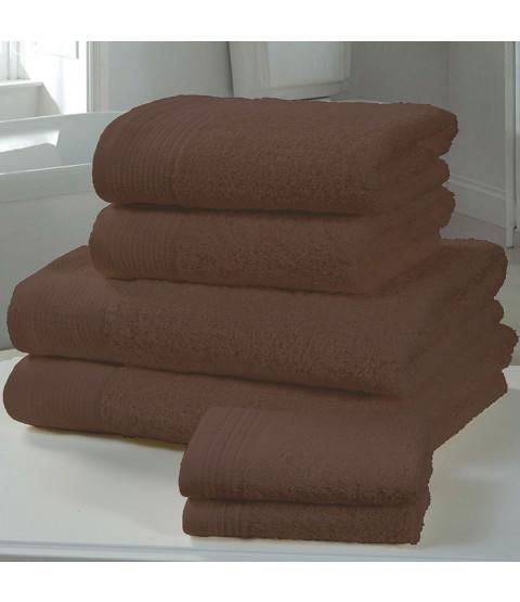 Asciugamano in 4 pezzi di balla di cioccolato Chatsworth - 2 asciugamani, 2 asciugamani da bagno