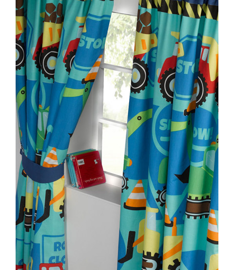 Construction Time Lined Curtains 72in Drop