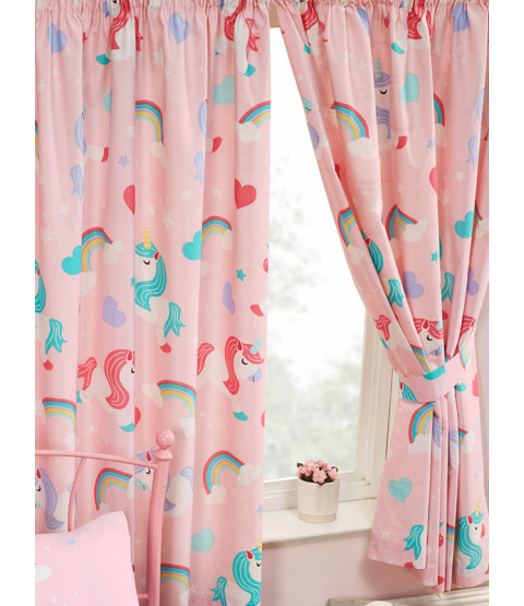 I Believe In Unicorns Lined Curtains