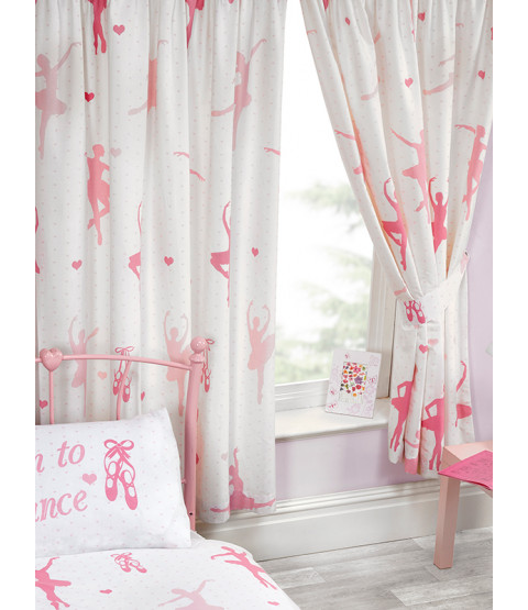 Ballet Born To Dance Lined Curtains 66in x 72in