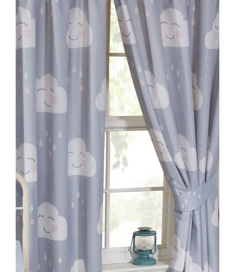 "Happy Clouds Lined Curtains 72"" Drop"