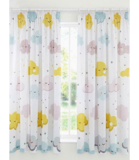 Clouds and Stars Curtains 72 Inch Drop