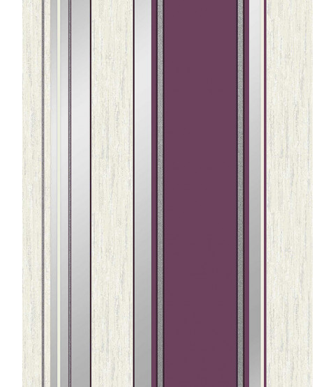 Synergy Stripe Wallpaper Plum Vymura M0800