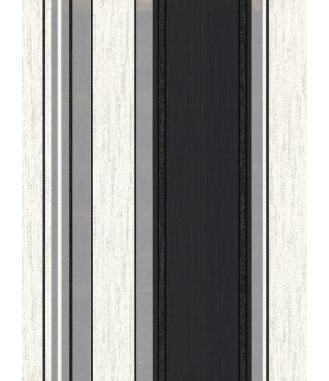 Wallpaper Synergy Stripe Ebony Black Vymura M0785