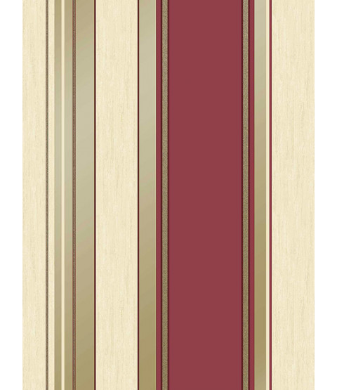Synergy Stripe Wallpaper Rich Red Vymura M0803