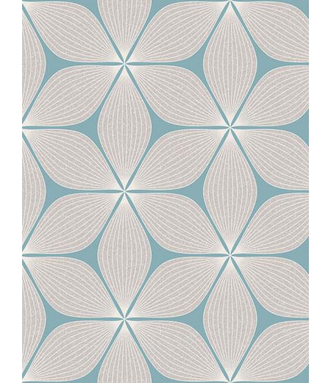 Vibration Geometric Glitter Wallpaper Duck Egg Coloroll M1023