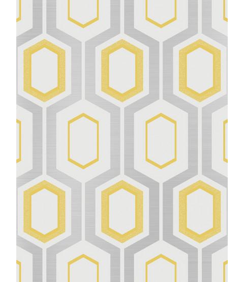 Mortimer Geometric Wallpaper Yellow Coloroll M1025