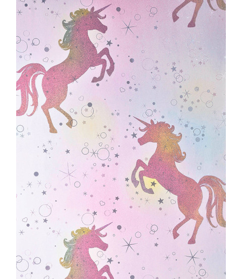 Be Dazzled Dancing Unicorn Wallpaper Rainbow Coloroll M1423