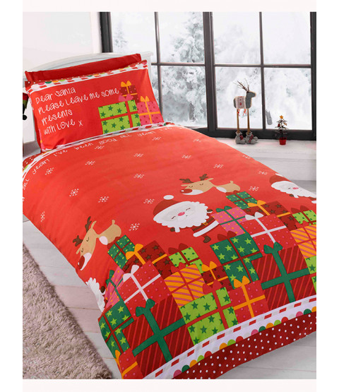 Dear Santa Christmas Junior Duvet Cover and Pillowcase Set