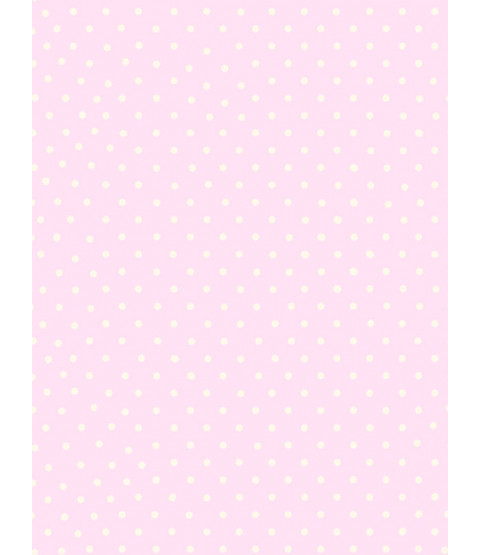 Polka Dot Wallpaper - Pink and White - 6321