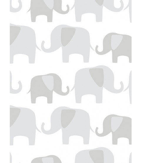 NuWallpaper Elephant Parade Peel And Stick Wallpaper - Grey NU1405