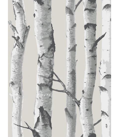 NuWallpaper Birch Tree Peel and Stick Papel pintado - Gris NU1650