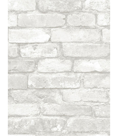 NuWallpaper Grey and White Brick Peel And Stick Wallpaper - NU1653