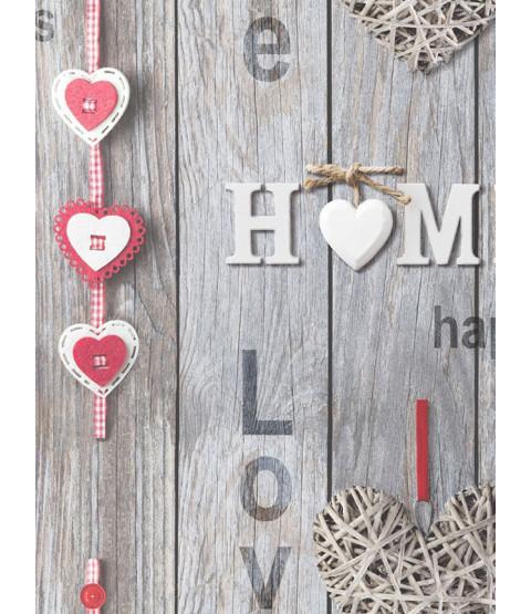 Fine Decor Love Your Home Wallpaper - Red FD41718