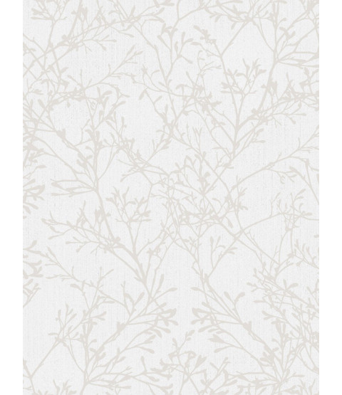 Fine Decor Tranquillity Tree Wallpaper - Grey / Silver FD41712
