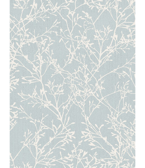 Fine Decor Tranquillity Tree Wallpaper - Duck Egg / Silver FD41713