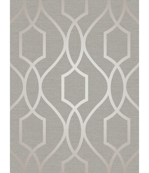 Grey and Taupe Geometric Wallpaper Fine Decor Apex  Trellis FD41997