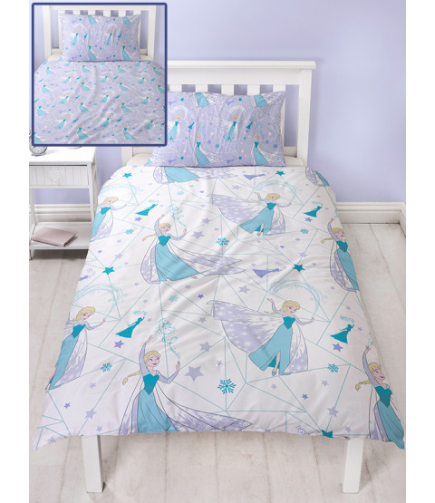 Disney Frozen Icicle Single Duvet Cover and Pillowcase Set