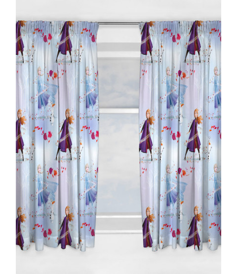 Disney Frozen 2 Element Curtains 72in Drop