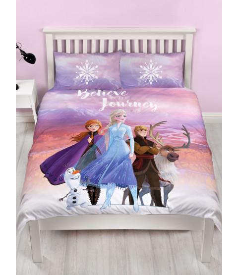 Disney Frozen 2 Journey Reversible Double Duvet Cover Set